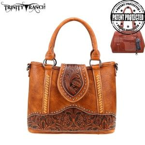 BR Trinity Ranch Tooled Leather Collection Crossbo